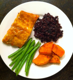 Grilled Salmon and Wild Rice