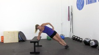 bench side plank hip raise - step 2