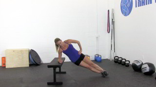 bench side plank hip raise - step 3