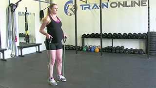 fit mom band side step - step 1