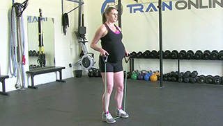 fit mom band side step - step 3