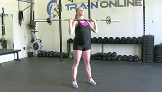 fit mom standing shoulder press - step 3