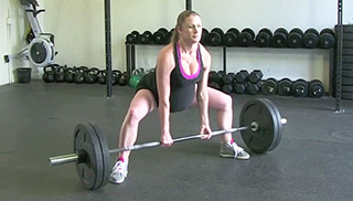 Fit Mom Sumo Deadlifts exercise for women