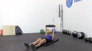 weighted sit-ups - step 1