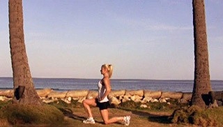 Picture of a female doing Alternating Beach Lunges Exercise