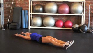 alternating crunch-up - step 1