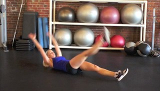 alternating crunch-up - step 3