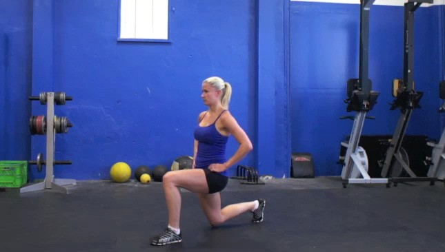 alternating lunges - step 2