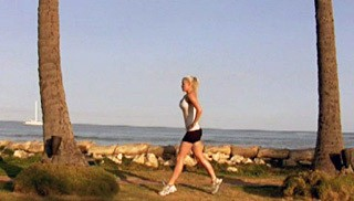 alternating split lunges - step 1