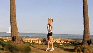 alternating split lunges - step 3