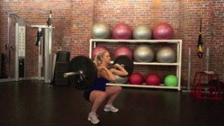 Picture of a female doing Barbell Front Squats Exercise