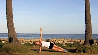 Picture of a female doing Beach Body Side Plank Exercise