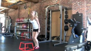 beginner plyo jumps - step 1