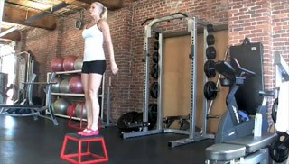 beginner plyo jumps - step 2