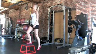 beginner plyo jumps - step 3