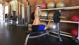bench press double leg drops - step 1