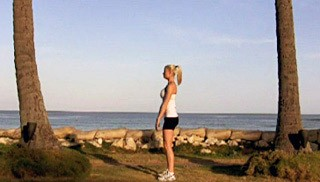 beach bodyweight squat - step 1