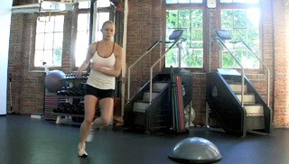 bosu side lateral bounds - step 1