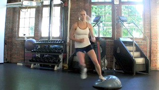 bosu side lateral bounds - step 2