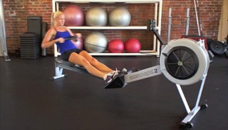 Picture of a female doing Concept 2 Rowing Exercise