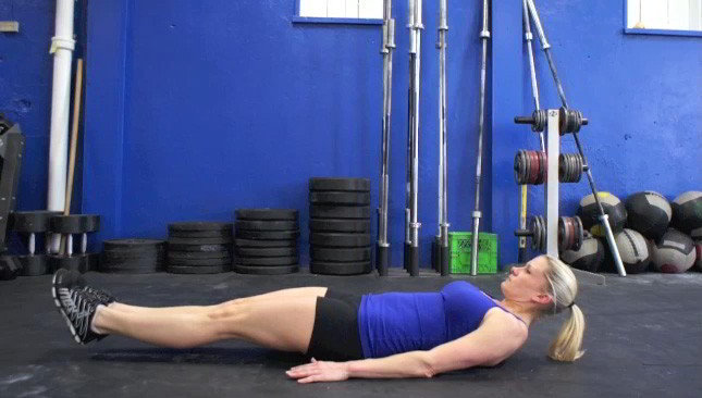 Picture of a female doing Double Leg Drops Exercise