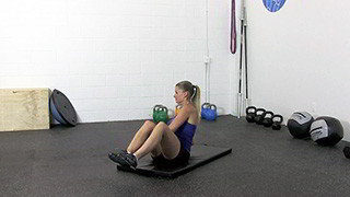 dumbbell seated trunk twist - step 3
