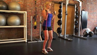 exercise band bicep curls - step 2