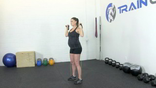 fit mom band shoulder press - step 1