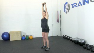 fit mom band shoulder press - step 2