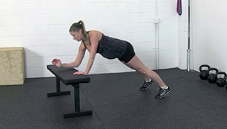 fit mom bench plank-up - step 3