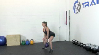 fit mom kettlebell deadlift - step 2