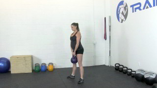 fit mom kettlebell deadlift - step 3