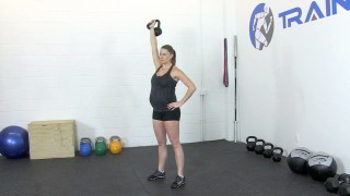 fit mom kettlebell press - step 3
