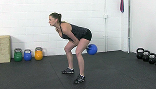 fit mom kettlebell swing - step 1