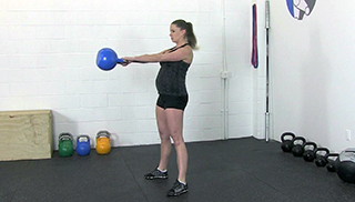 fit mom kettlebell swing - step 2