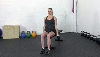 fit mom seated curl press - step 1