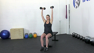 fit mom seated curl press - step 3