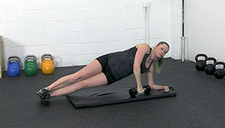 fit mom side plank press - step 1