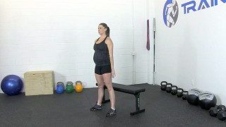 fit mom sit stand - step 1