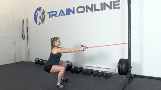 fit mom squat row - step 1