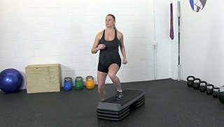 fit mom step overs - step 1
