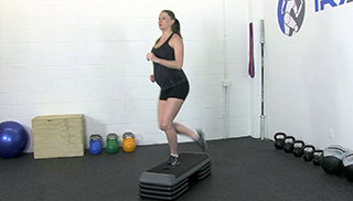 fit mom step overs - step 2