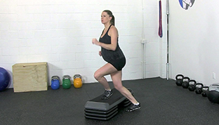 fit mom step overs - step 3