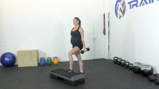 fit mom step-up curl - step 1