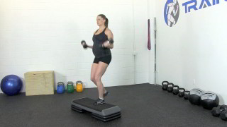 fit mom step-up curl - step 2