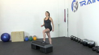 fit mom step-ups - step 1