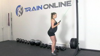 fit mom tricep extension - step 1