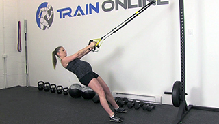 fit mom trx body row - step 1
