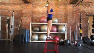 Picture of a female doing High Box Step-Up Exercise