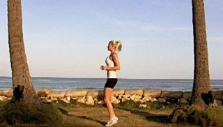 Picture of a female doing Jogging on the Spot Exercise